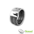 925 Sterling Silver Nomad Contemporary Snake Weave Band