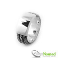 925 Sterling Silver Nomad Byzantine Snake Weave Ring Band