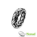 925 Sterling Silver Nomad Balinese Weave Ring Band