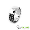 925 Sterling Silver Nomad Triple Byzantine Link Ring Band