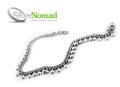 925 Sterling Silver Nomad Curb Sphere Anklet