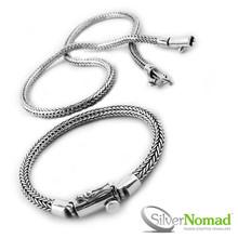 925 Sterling Silver Nomad Modern Snake Weave Set
