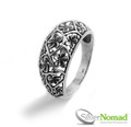 925 Sterling Silver Nomad Multi Flower Band