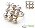 925 Sterling Silver Nomad Pearl Cluster Ring
