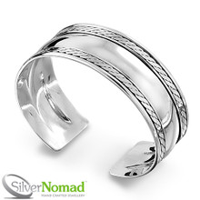 925 Sterling Silver Nomad Etternity Bangle for Men