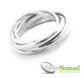 925 Sterling Silver Nomad 5 Piece Contemporary Band Ring