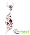 925 Sterling Silver Nomad Twin Amethyst Wave Pendant