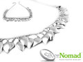 925 Sterling Silver Nomad Contemporary Autumn Leaves Necklace