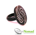 925 Sterling Silver Nomad Abstract Yin Yang Ring