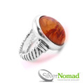 Silver Nomad Volcanic Mineral Ring
