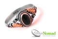 925 Sterling Silver Nomad Filigree Gold Onyx Ring