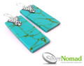925 Sterling Silver Nomad Turquoise Earrings