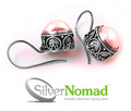 925 Sterling Silver Nomad Scroll Pearl Earrings