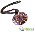 Silver Nomad Beaded Spider Shell Pendant Necklace