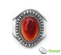 925 Sterling Silver Nomad Balinese Carnelian Cuff