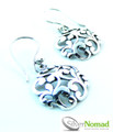 925 Sterling Silver Nomad Abstract Twin Wave Earrings