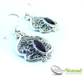 925 Sterling Silver Nomad Amethyst Swirl Sphere Earrings