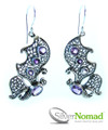 925 Sterling Silver Nomad Twin Butterfly Amethyst Earrings