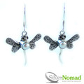 925 Sterling Silver Nomad Pearl Dragonfly Earrings