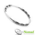 925 Sterling Silver Nomad Bali Scroll Bangle