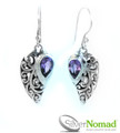925 Sterling Silver Nomad Amethyst Wave Earrings