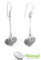 925 Sterling Silver Nomad Heart Scroll Earrings