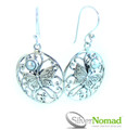 925 Sterling Silver Nomad Resting Butterfly with Pearl Earrings