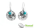 925 Sterling Silver Nomad Resting Dragonfly with Turquoise Earrings