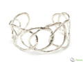 925 Sterling Silver Designer Oval Cuff Bangle