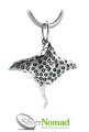 925 Sterling Silver Nomad Stingray Pendant