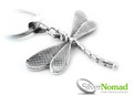 925 Sterling Silver Nomad Dragonfly Pendant