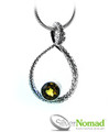 925 Sterling Silver Nomad Serpent Citrine Pendant