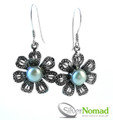 925 Sterling Silver Nomad Pearl Flower Earrings