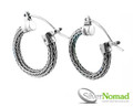 925 Sterling Silver Nomad Tulang Naga Dragon Bone Earrings
