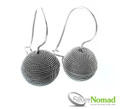 925 Sterling Silver Nomad Grooved Sphere Rope Earrings