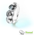 925 Sterling Silver Nomad Contemporary Flower Ring