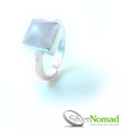 925 Sterling Silver Nomad Contemporary Moonstone Ring