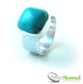 925 Sterling Silver Nomad Contemporary Turquoise Ring