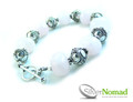 925 Sterling Silver Nomad Rose Quartz and Bali Bead Bracelet V3