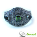 925 Sterling Silver Nomad Filigree Multi Gem Bangle