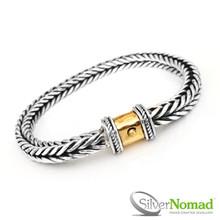 925 Sterling Silver Nomad Square Link Weave Bracelet