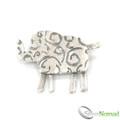 925 Sterling Silver Designer Elephant Brooch