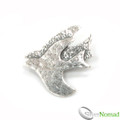 925 Sterling Silver Soaring Doves Brooch