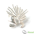 925 Sterling Silver Designer Hedgehog Brooch