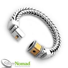 925 Sterling Silver Nomad Square Link Bracelet