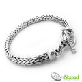 925 Sterling Silver Nomad Rounded Smooth Weave Bracelet