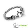 925 Sterling Silver Naga Twist Bracelet
