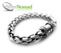 925 Sterling Silver Nomad Double Link Bracelet - Push button barrel clasp.