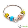 925 Sterling Silver Multi Charm and Bead Bracelet v3