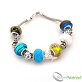 925 Sterling Silver Multi Charm and Bead Bracelet v1